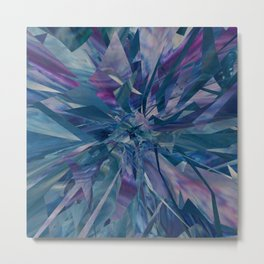Shattered Blues - Abstract Art by Fluid Nature Metal Print