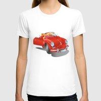 porsche T-shirts featuring Porsche by Paola Canti