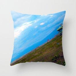 green caravan Throw Pillow