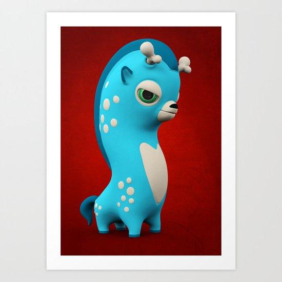 Cool Blue Wippo Art Print