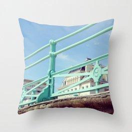 Brighton Sea Front Throw Pillow