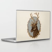 reindeer Laptop & iPad Skins featuring Reindeer by Sarah DC