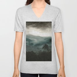 Above the Clouds and Beyond Unisex V-Neck