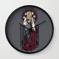 hallion Wall Clocks featuring It's not long at all.... by Karen Hallion Illustrations