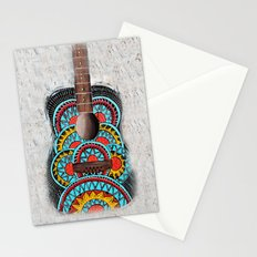 Retro Guitar Stationery Cards