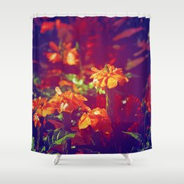 Sun Kissed Maroon Shower Curtain