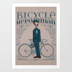 Bicycle Repairman Art Print