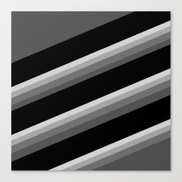 Simple black and white striped pattern . Oblique stripes . Canvas Print