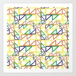 BP 10 Triangles Art Print