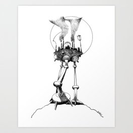 The Tripod Advances Art Print