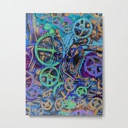 Welcome To The Machine Blue Metal Print
