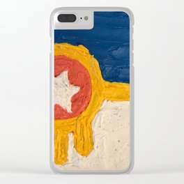 Tulsa Frosting Flag Clear iPhone Case