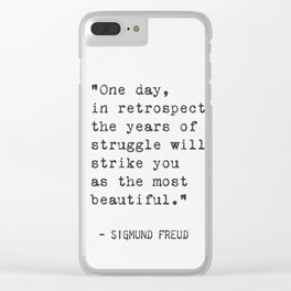 Sigmund Freud qt Clear iPhone Case