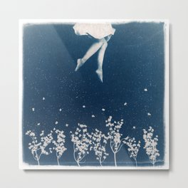 dancing in the blue Metal Print