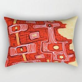 Golden Maze Rectangular Pillow