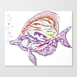 Purple Tropical Fish Canvas Print
