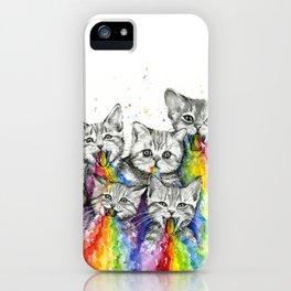 Kittens Puking Rainbows iPhone Case