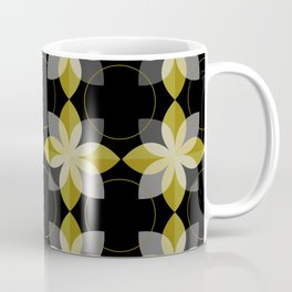 old gold and black flowers Coffee Mug