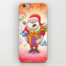 A Christmas Gift from Halloween Creepies to Santa iPhone Skin