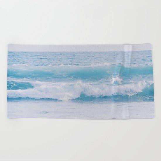 Pastel Ocean #waves Beach Towel