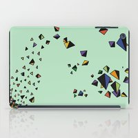 triangles iPad Cases featuring Triangles by Jarvis Glasses