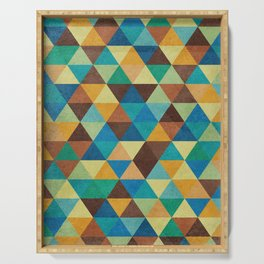 Triangles and Colors Serving Tray