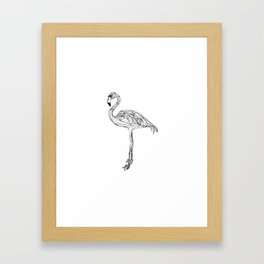 La Flamingo Framed Art Print
