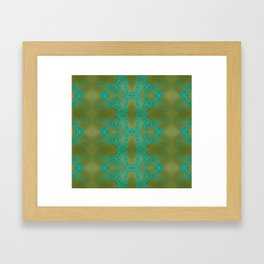 Turquoise lace Framed Art Print
