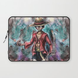 The King of Pirates a Tra-Digital Portrait Laptop Sleeve