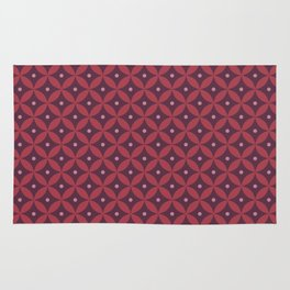 Abstract geometric pattern (reds) Rug