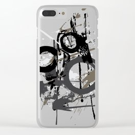 Enso Groove by Kathy Morton Stanion Clear iPhone Case