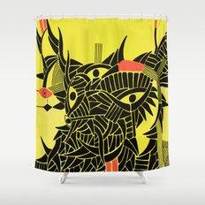 - down - Shower Curtain