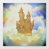 castle in the sky Canvas Prints featuring castle in the sky by Ancello