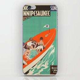 Vintage poster - Lake Winnipesaukee iPhone Skin