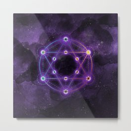 The Geometry of the Divine Metal Print