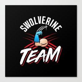 Swolverine Team Canvas Print