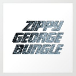 Zippy George Bungle Art Print