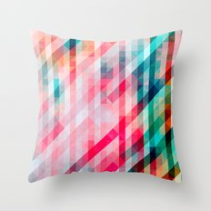 Colorful Geometric Pattern Throw Pillow