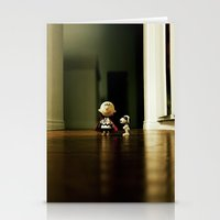 charlie brown Stationery Cards featuring Charlie Brown & Snoopy by Nima Nakhshab