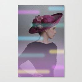 la femme au chapeau 2 Canvas Print