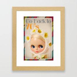 Blythe Go back to the 70s Framed Art Print