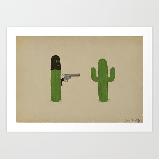 Stick'em Up Art Print