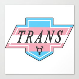 Identity Stamp: Trans Canvas Print
