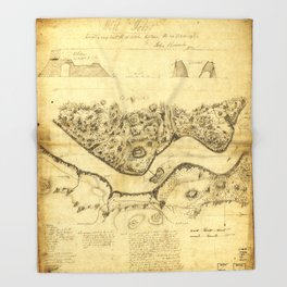 Original West Point Survey Map October 24th-27th 1783 Throw Blanket