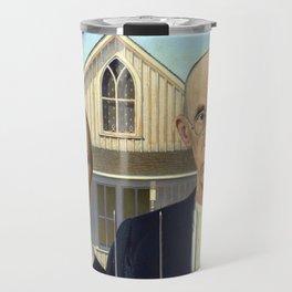 Grant Wood American Gothic Travel Mug