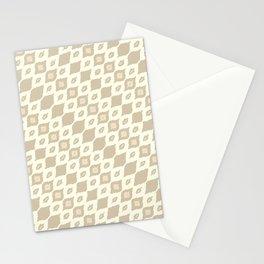 leaf diamond bamboo Stationery Cards