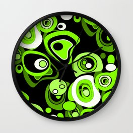 Abstract pattern black and green background . Wall Clock