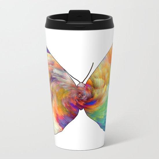 Mesmering Butterfly Metal Travel Mug