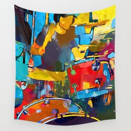 Drummer Wall Tapestry