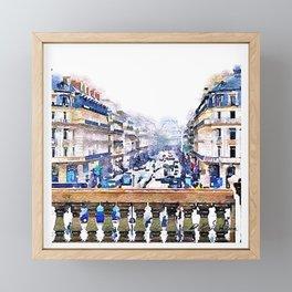 Paris Avenue De L'opera Moderne Framed Mini Art Print